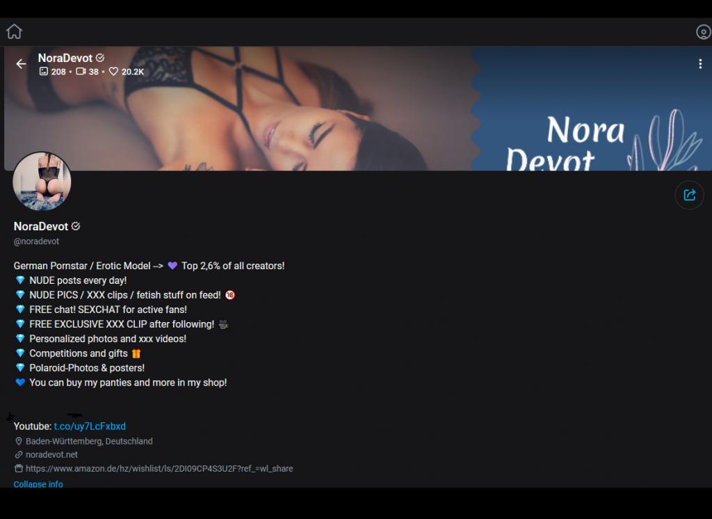 OnlyFans NoraDevot